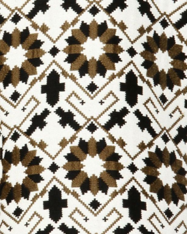 Lilli Ann 70s Vintage Tapestry Coat + Dress Set- 2-Pc Ensemble For Sale 2