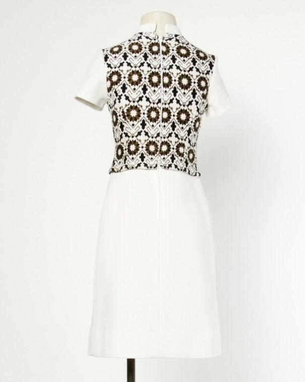 Lilli Ann 70s Vintage Tapestry Coat + Dress Set- 2-Pc Ensemble For Sale 3