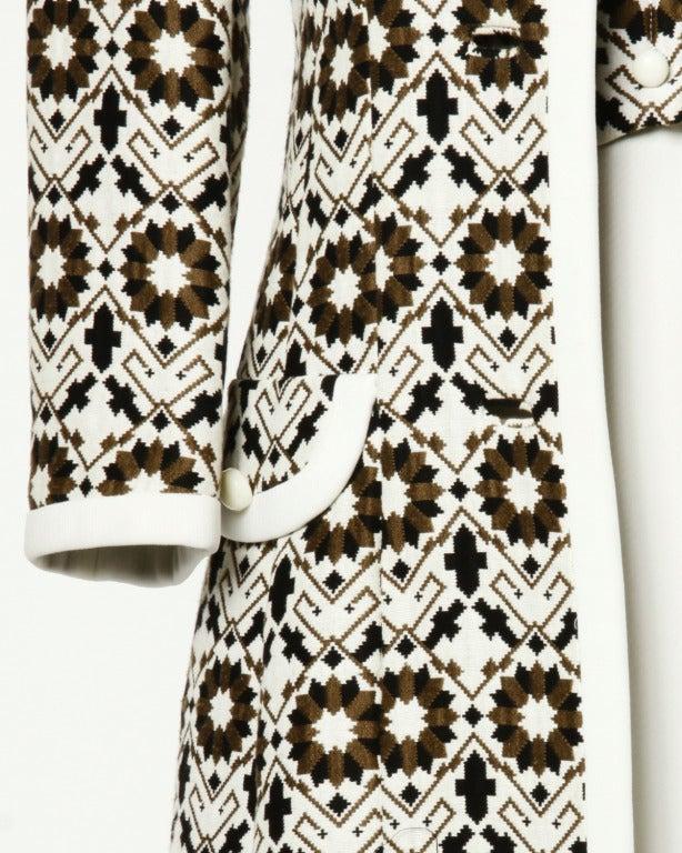 Lilli Ann 70s Vintage Tapestry Coat + Dress Set- 2-Pc Ensemble For Sale 4