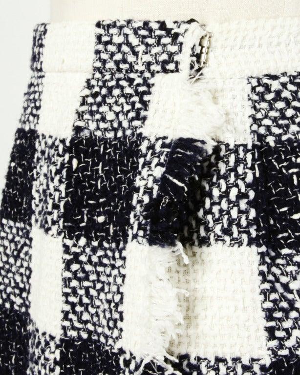 Oscar de la Renta 90s 1990s Plaid Wool Wrap Skirt 7