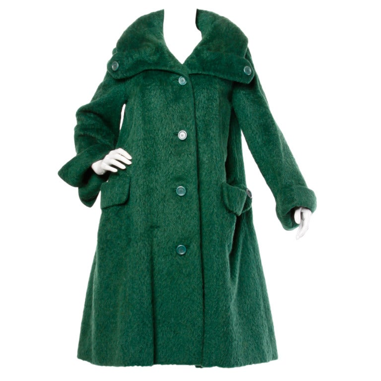 Vintage green swing coat