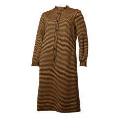 Vintage 1970's Givenchy Striped Shift Dress