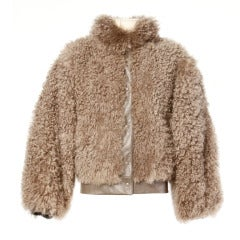 Vintage 80s 1980s Mongolian/ Tibetan Lamb Fur Leather Jacket- Neiman-Marcus