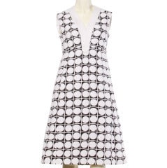 Elinor Simmons for Malcolm Starr Vintage 1960s 60s Op Art Polka Dot Mini Dress