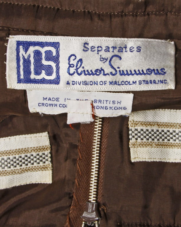 Elinor Simmons for Malcolm Starr Vintage Velvet Gaucho Pants + Blouse Set In Excellent Condition For Sale In Sparks, NV