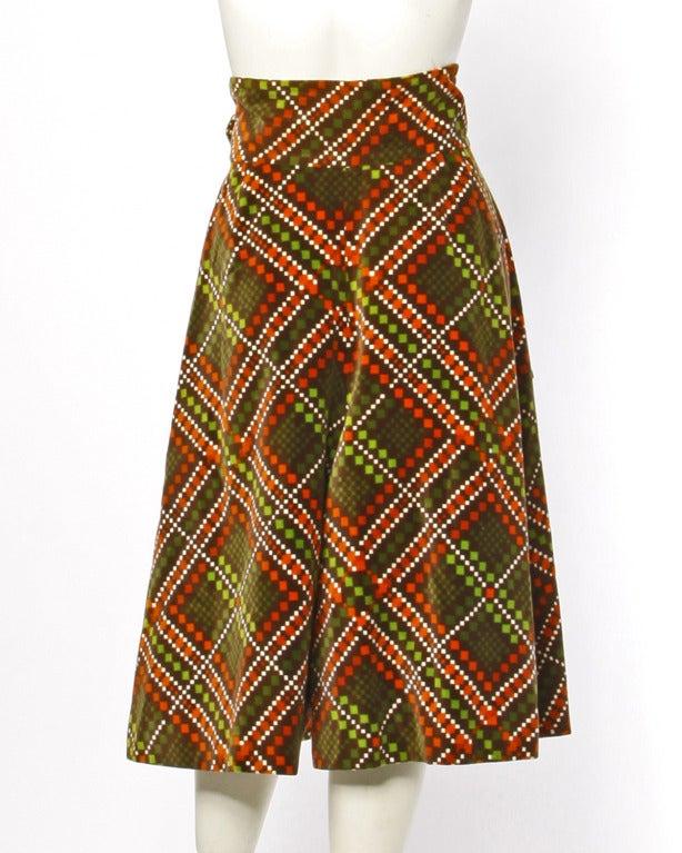Women's Elinor Simmons for Malcolm Starr Vintage Velvet Gaucho Pants + Blouse Set For Sale