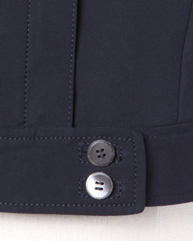 Prada Sleeveless Navy Blue Button Up Waistcoat/ Vest Top 2