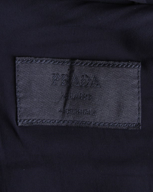 Prada Sleeveless Navy Blue Button Up Waistcoat/ Vest Top 6