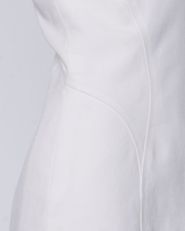 Gianni Versace Couture 1990s 90s Vintage White Bustier Body Con Mini Dress 5