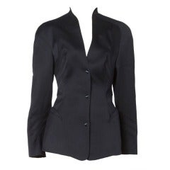 Thierry Mugler Vintage 1980s 80s Iconic Black Blazer Suit Jacket