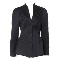 Thierry Mugler Vintage 1980s 80s Iconic Black Blazer Suit Jacket