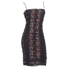 Jean Paul Gaultier Vintage Mesh Floral Paisley Print Body Con Dress