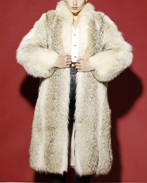 Vintage Coyote Fur Coat with Appraisal 6