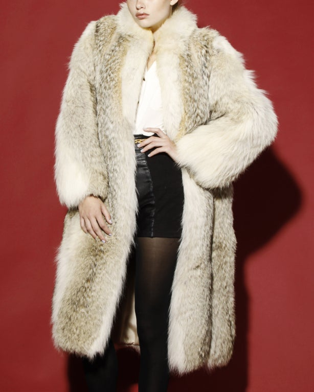 Vintage Coyote Fur Coat With Appraisal At 1stdibs