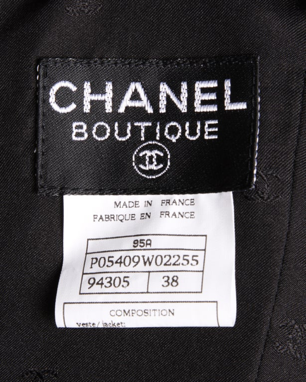 Chanel Black Silk Dress + Lace Jacket Set 5