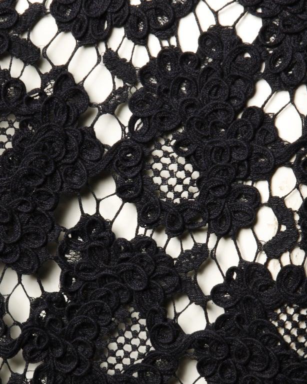 Chanel Black Silk Dress + Lace Jacket Set 9