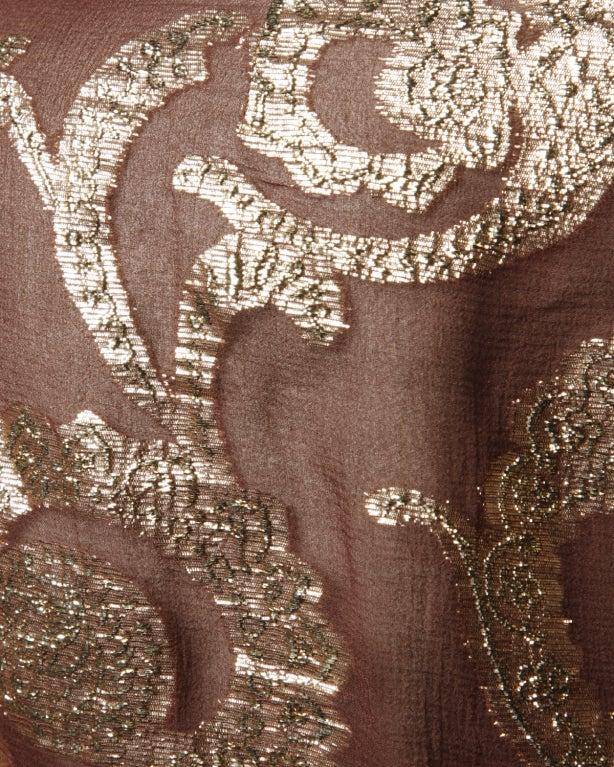 Vintage Pauline Trigere / Saks 5th Ave Metallic Silk Maxi Dress image 7