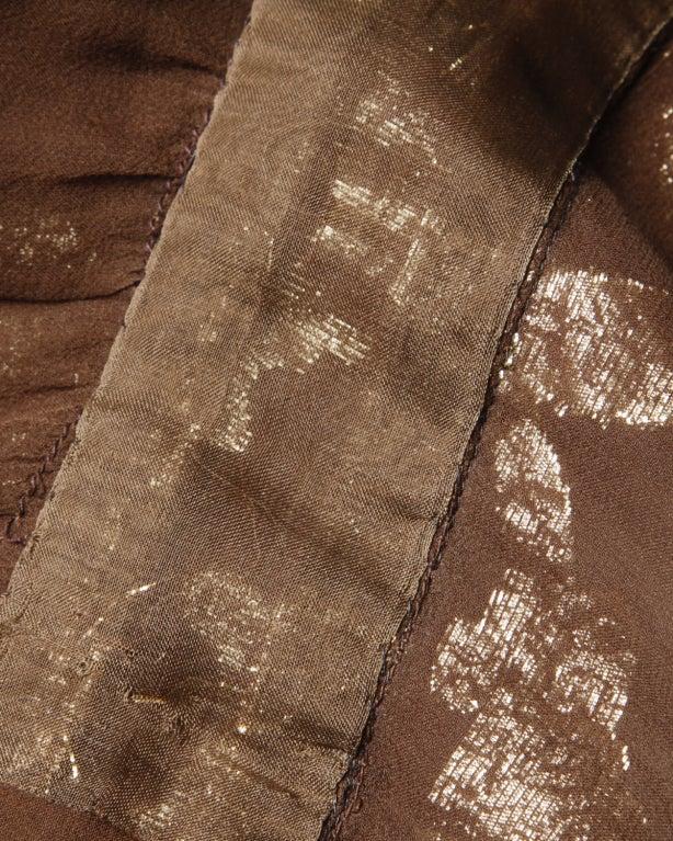 Vintage Pauline Trigere / Saks 5th Ave Metallic Silk Maxi Dress image 9
