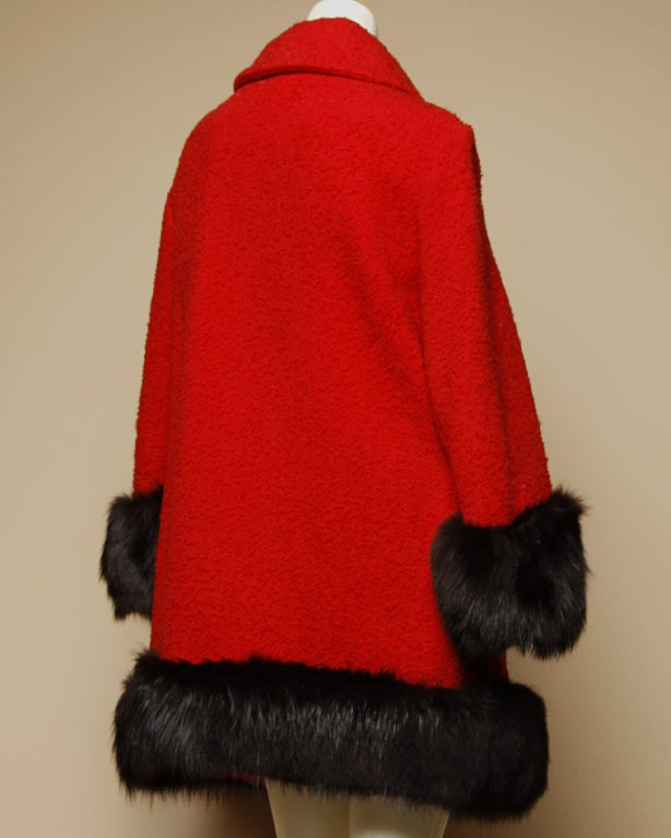 Vintage 1960's Mod Fox Fur Princess Coat image 2
