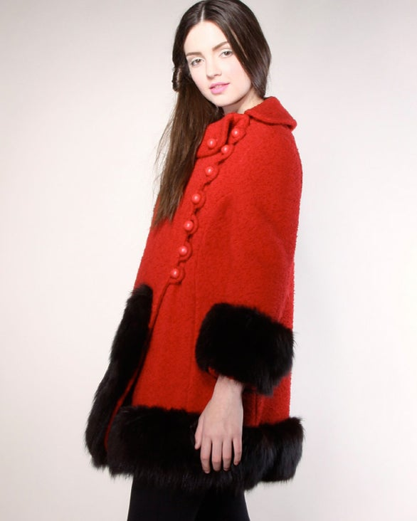 Vintage 1960's Mod Fox Fur Princess Coat image 5