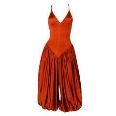 Vintage 1970's Norma Kamali Avant Garde Harem Jumpsuit
