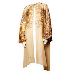 Vintage 1970's La Mendola Silk Chiffon Duster