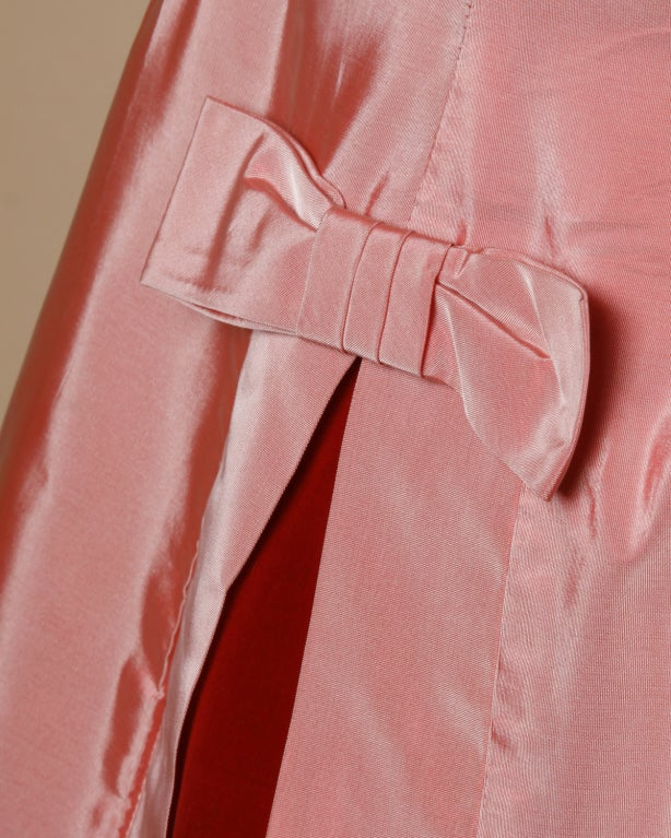 Vintage 1950's Two Tone Silk + Velvet Party Dress 4