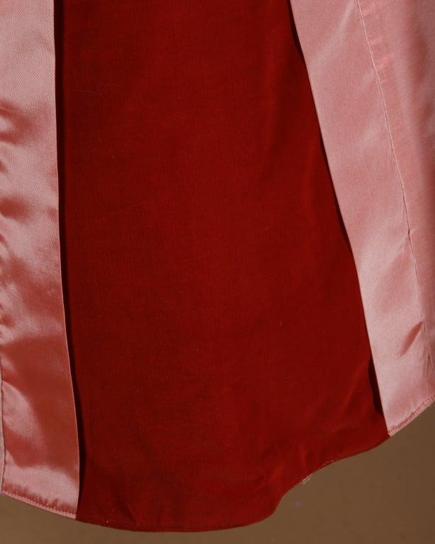 Vintage 1950's Two Tone Silk + Velvet Party Dress 5