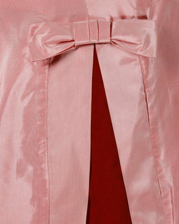 Vintage 1950's Two Tone Silk + Velvet Party Dress 9