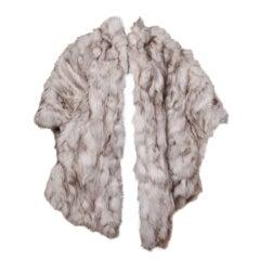 Vintage Arctic Fox Fur Cape Coat by Saga Fox