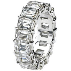 Diamond Eternity Band-Emerald Cut Perfection
