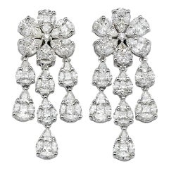 Gorgeous Illusion Set Chandelier Earrings