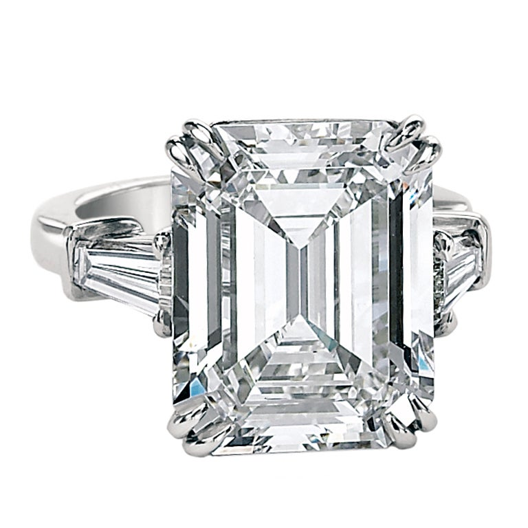 An Important 10.02ct Emerald Cut Diamond GIA Cert Ring 1