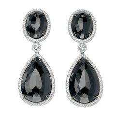 David Rosenberg Stunning Black Diamond Drop Earrings