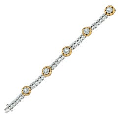 Fancy Vivid Yellow Diamond Bracelet By David Rosenberg
