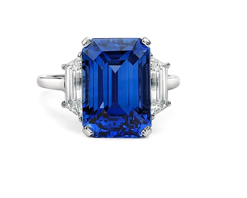 Rare Burmese Sapphire Diamond Ring image 2