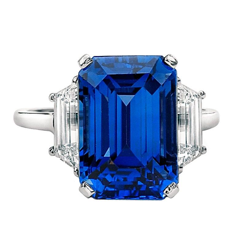Rare Burmese Sapphire Diamond Ring