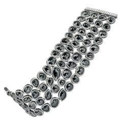 Gorgeous Multi Shape Black Diamond Bracelet