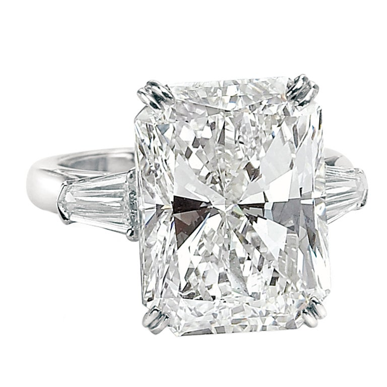 Impressive 15.03 Carat Radiant Cut Diamond GIA Certified Ring