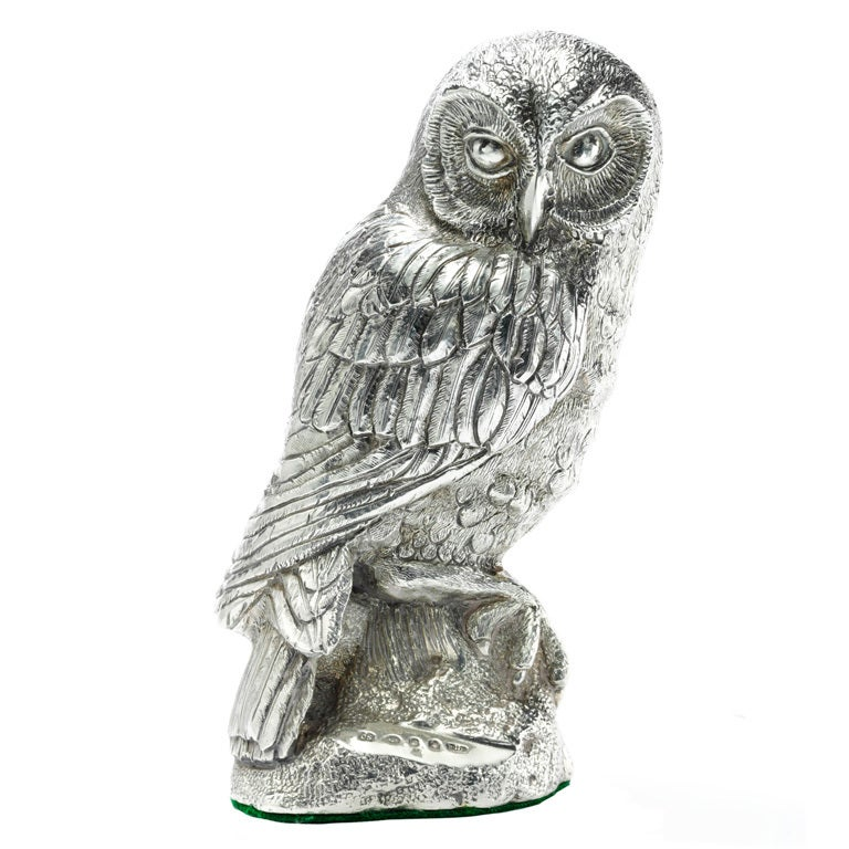 Model Silver Owl At 1stdibs
