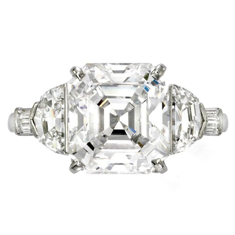 RAYMOND YARD Asscher Cut Diamond Ring