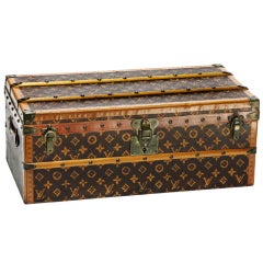 LOUIS VUITTON Miniature Malle Fleurs Trunk