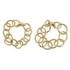 Gold Large Oval Link Bracelet