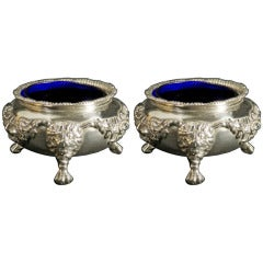 Antique English Silver Salt Cellars