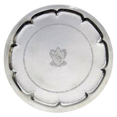 Omar Ramsden Silver Salver on ball and claw feet London 1926