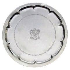 English Antique Silver Salver