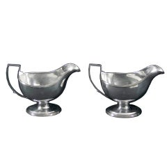 Antique English Silver Sauce Boats