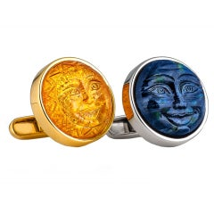 Sun And Moon Mens Cufflinks