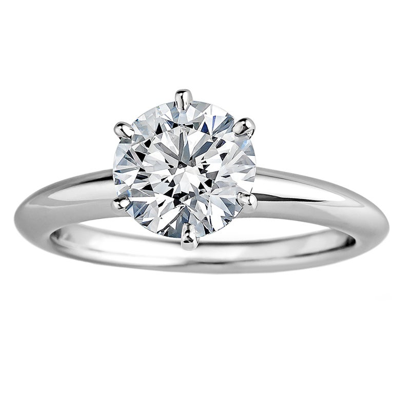 Tiffany & Co. Diamond Solitaire Engagement Ring 1