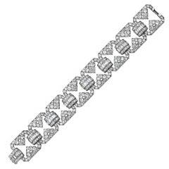 Udall & Ballou Art Deco Diamond Platinum Bracelet.